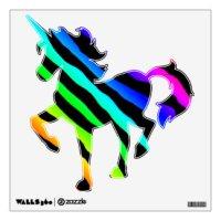 Rainbow Zebra Wall Decals & Wall Stickers | Zazzle