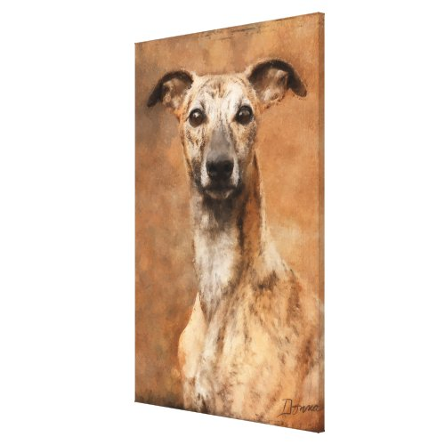 Brindle Whippet Dog Canvas Print