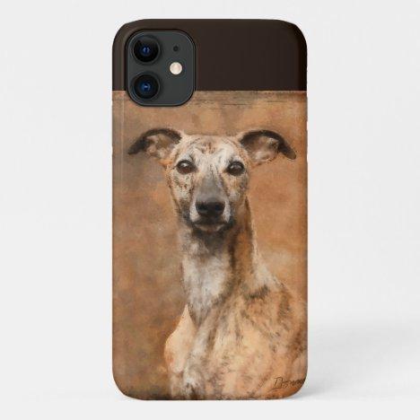 Brindle Whippet Dog iPhone 11 Case