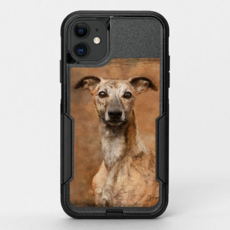 Brindle Whippet Dog OtterBox Commuter iPhone 11 Case
