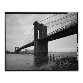 Brooklyn Bridge Black and White Photograph Poster