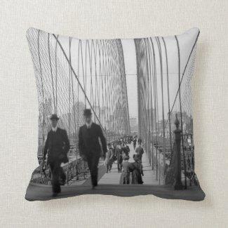 Brooklyn Bridge Crossing Pillows