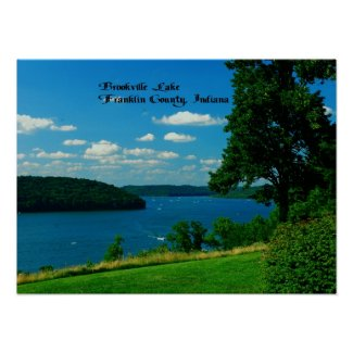 Brookville Lake, Franklin County Indiana Print