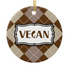 Brown Argyle Vegan ornament