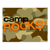 Brown Camo CAMP ROCKS! Postcard