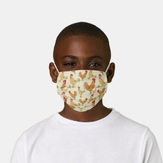Brown Chicken Design Kids' Cloth Face Mask