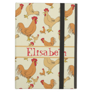 Brown Chicken Design Personalise Case For iPad Air