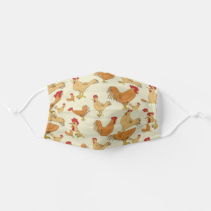 Brown Chickens Cloth Face Mask