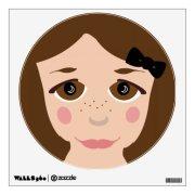 brown eyes & hair girl face cute