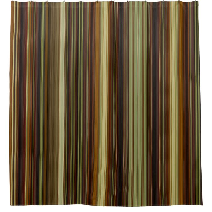 brown gold and green stripes shower curtain zazzle com