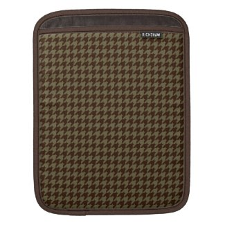 Brown Houndstooth Handsome Gentlemen's Pattern Sleeves For iPads