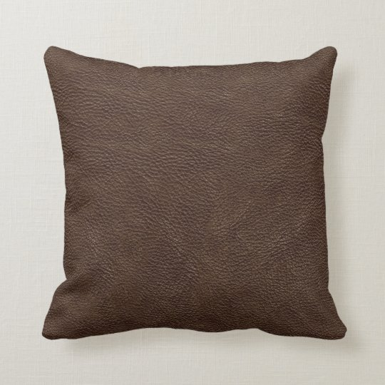 Brown Leather Print Texture Pattern Throw Pillow  Zazzlecom