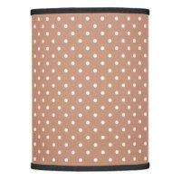brown polka dot pattern lamp shade | Zazzle