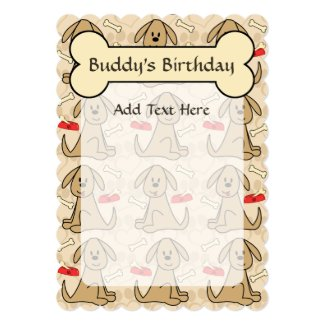 Brown Puppy Dog Graphic Design Personalize Card