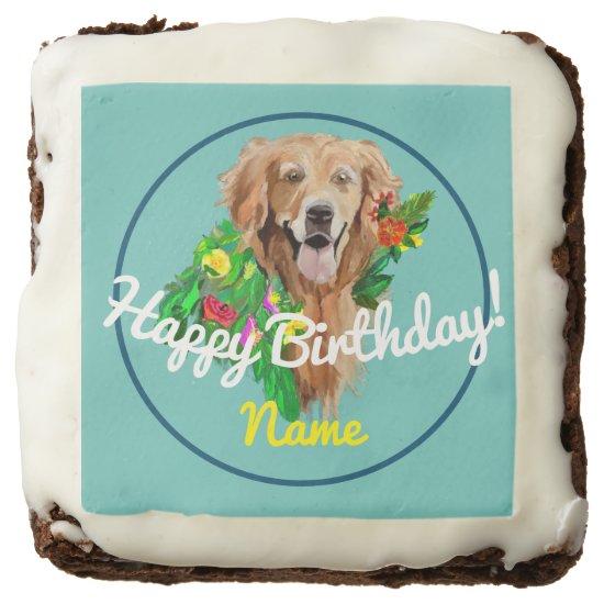Brownies Happy Birthday Golden Retriever
