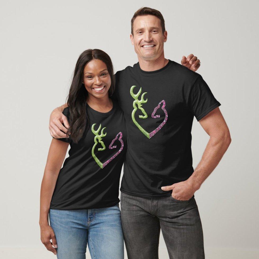 Cute Matching Buck and Doe Couple T-Shirt