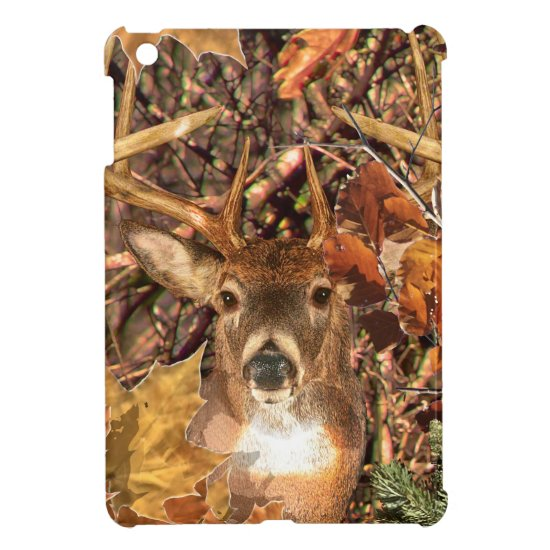 Buck Camouflage White Tail Deer iPad Mini Cover