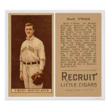Buck O'Brien Red Sox Baseball 1912 Posters