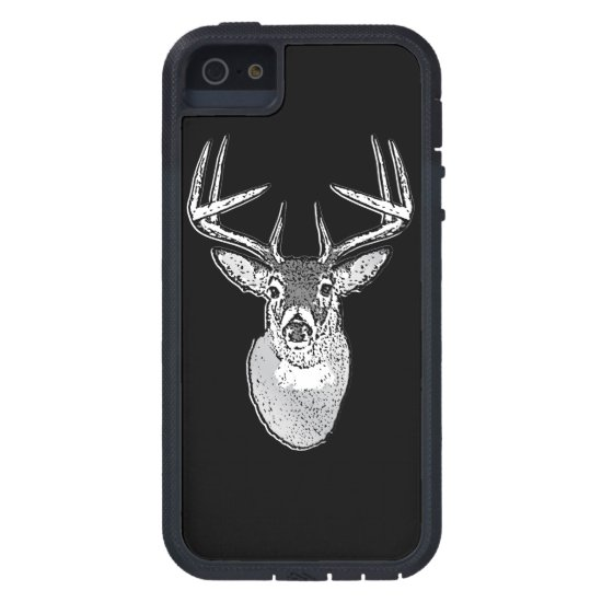 Buck on Black White Tail Deer iPhone SE/5/5s Case