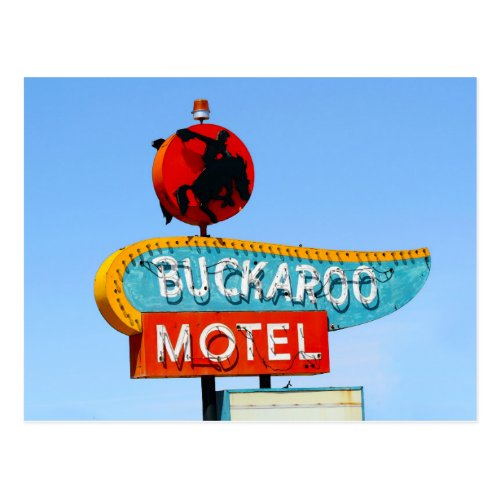 Buckaroo Motel Sign, Tucumcari, N.M. Postcard