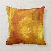 Buddha with Lotus Throw Pillow