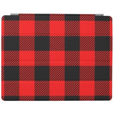 Buffalo Check Red and Black Lumberjack Plaid Decor iPad Smart Cover