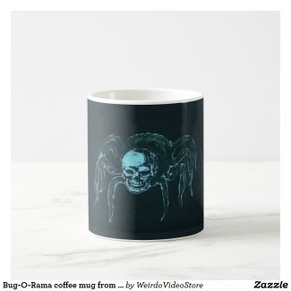 Bug-O-Rama coffee mug from from Weirdo Video