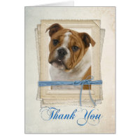 Bulldog Thank You Card