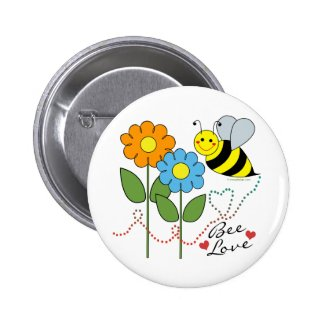 Bumble Bee With Flowers Bee Love Pins