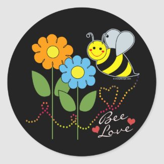 Bumble Bee With Flowers Bee Love Sticker