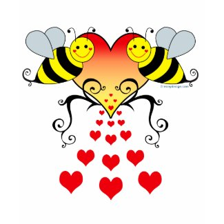 Bumble Bees & Hearts shirt