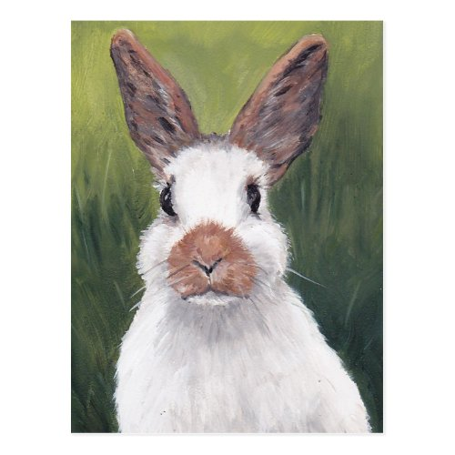 Bunny Ears Animal Art Postcard