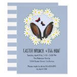 ❤️ Fun Bunny Ears & Daisy Wreath Easter Brunch Invitation