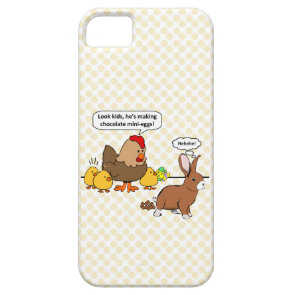 Bunny makes chocolate poop funny cartoon case for iPhone 5/5S