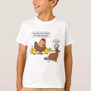 Bunny makes chocolate poop funny cartoon T-Shirt