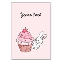 Bunny with a pink cupcake card