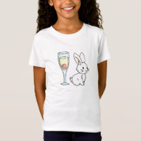 Bunny with Champagne T-Shirt