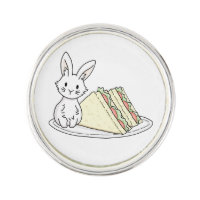 Bunny with Sandwiches Pin