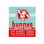 Bunnys Waffle Shops Postcard