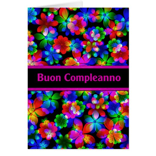 Buon Compleanno Italian Birthday Card Zazzle