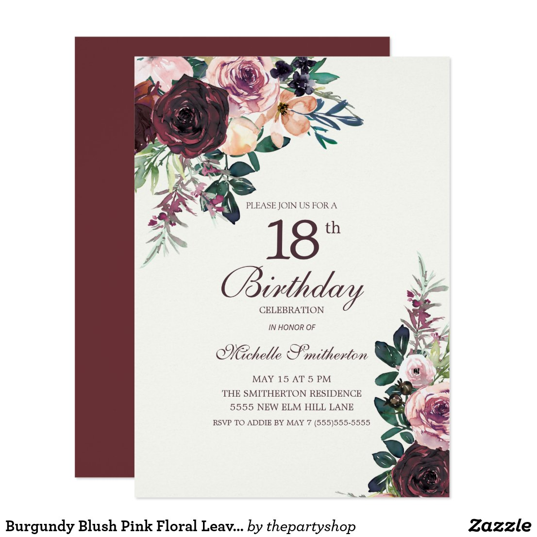 18th birthday party invitation templates