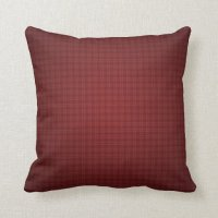 Burgundy Plaid Throw Pillow