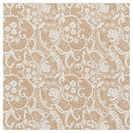 Burlap & Lace Fantasy Design Fabric Material