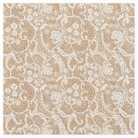 Burlap & Lace Fantasy Design Fabric Material