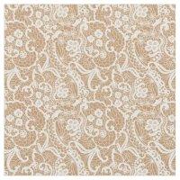Burlap & Lace Fantasy Design Fabric Material | Zazzle.com