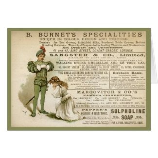 Burnet's Specialities card