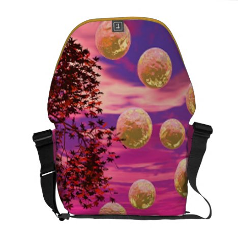 Burst of Joy – Abstract Magenta & Gold Inspiration Courier Bag