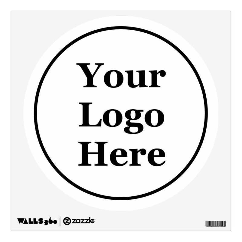 Business Template Black Circle Your Logo Here Wall Decal