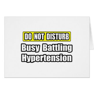 Busy Battling Hypertension card