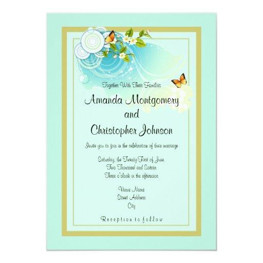 Butterflies and Flower Blossoms Wedding